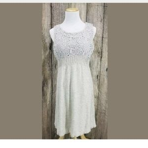 Anthropologie Knitted Knotted Medium Gray Dress